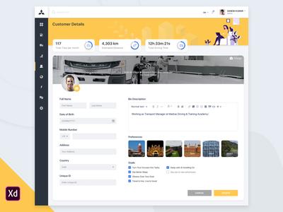 Fleet Management Application Dashboard