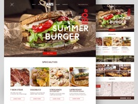Landing Page Of The Restaurant