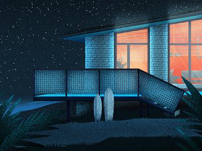 Ocean Cabin adobe architecture illustrator flat vectorillustration design vector modern graphic design illustration