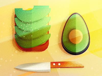 Avocado Breakfast drawing adobe illustrator flat vectorillustration design vector modern graphic design illustration