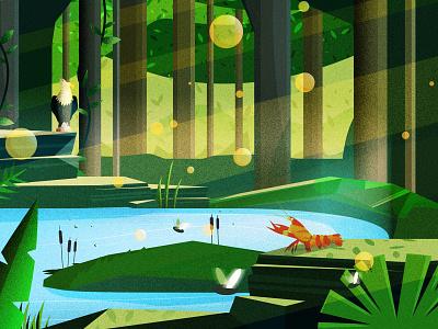 Inertia - Album Cover landscape adobe flat illustrator vectorillustration graphic design design vector modern illustration