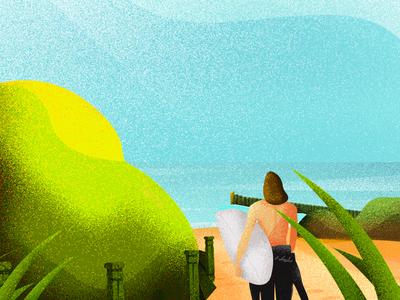 Baltic Surf Illustration