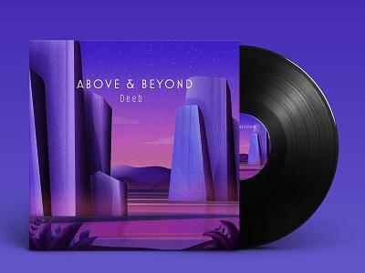 Above & Beyond Cover Artwork adobe photosop drawing landscape flat illustrator design vector modern graphic design illustration
