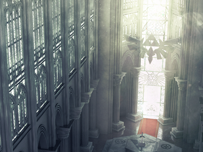 3D Cathedral Render zelda cathedral temple cinema 4d photoshop 3d 3d modeling 3d rendering triforce