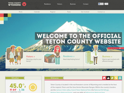 Teton County Site web county tourism visitor wyoming state ui gui