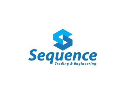 Sequence Logo icon design adv identity