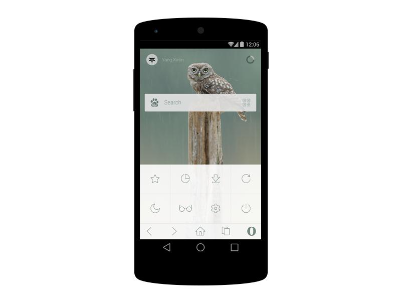 Opera cn 10 menu phone