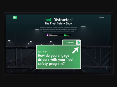 Not Distracted Podcast – Website motion design 3d art animation web 3d ui cinema 4d creative clean design