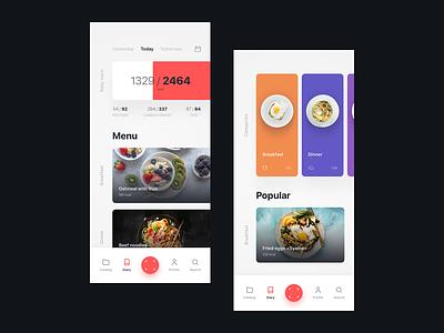 Food app (RDC | Qualifying Stage) ui  ux design mobile app design mobile app food app app concept mobile app uidesign ux ui creative clean design