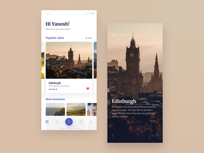 Travel App. Find your Great Britain mobile app design app concept app concept mobile ux uidesign ui creative clean design