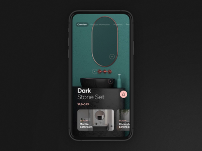 Bathroom Furniture App animation motion bathroom furniture app 3d cinema 4d ux uidesign ui creative clean design