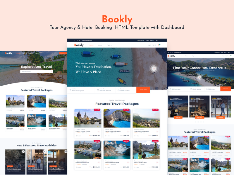 Bookly - Tour & Travel Booking System