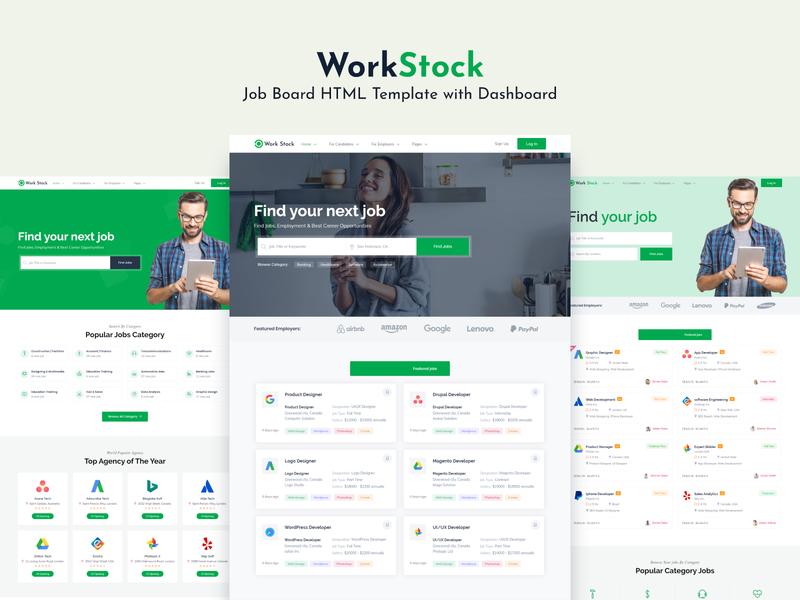 Work Stock - Job Board HTML Template