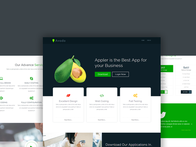 Avodo - Landing Page software modern template landing responsive template landing page html5 responsive template html5 creative template bootstrap responsive template application