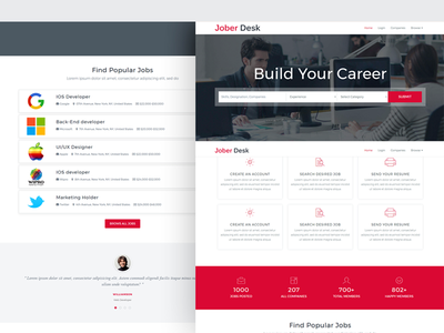 Jober Desk - Responsive Job Board Template