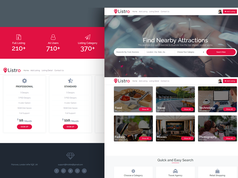Listro - Business Directory & Listing Template by Themezhub