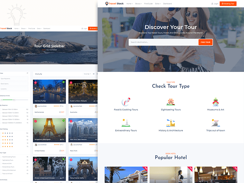Travel Stock - creative tour travel agency template by