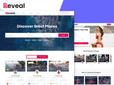 Reveal - Directory & Listings HTML Template