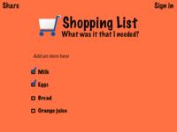 Web-based shopping app