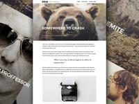 Blink - WordPress theme Design