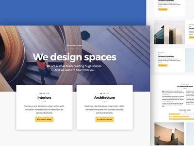 Elementor layout design architecture clean theme landing page one page business wordpress elementor