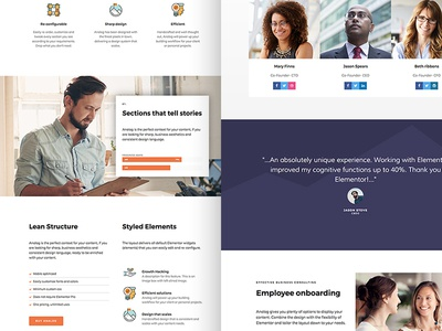 Hive - An upcoming Elementor template (Work in Progress) google fonts minimal clean theme landing page one page business wordpress elementor