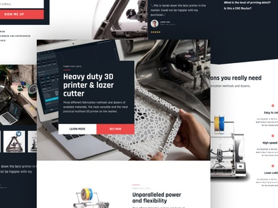 Heavy - A product landing page template product 3d printer one page page builder business landing page elementor wordpress