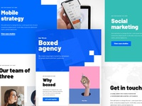 Boxed - Creative landing page template creative agency design elementor template landing page wordpress