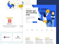 Dash Dribbble page builder one page template landing page elementor wordpress