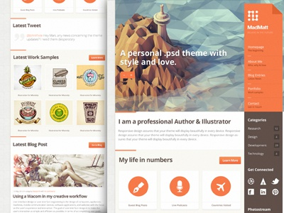 Theme preview image wordpress ui theme template themeforest
