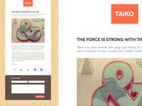 Taiko - A one page minimal theme