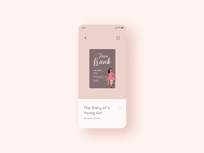 3D Ebook Flip Animation in Adobe XD createwithadobexd rosegold design microinteraction animation uidesign minimal adobexd