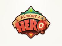 Almost A Hero Logo hero logo game video rpg