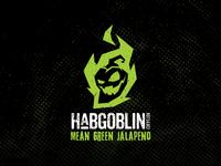 Habgoblin hot jalapeno sauce label design logo