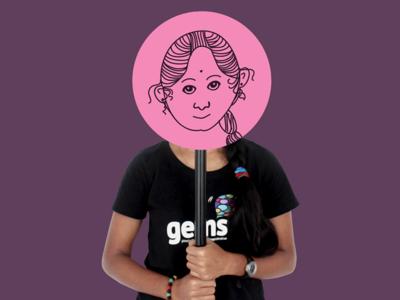 Saranya Profile branding vector design illustration drawing avatar team gems profile