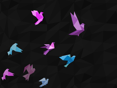 To touch the sky polygon bird dream design illustration colors