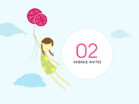 Dribbble Invitation baloons sky hope girl illustration invites dribbble entry dribbble invitation invitation