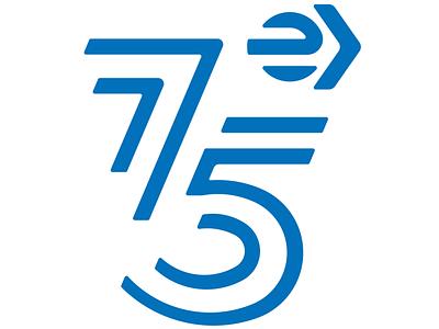 75 Aniversario EMT Madrid logo branding art direction typography graphic design design