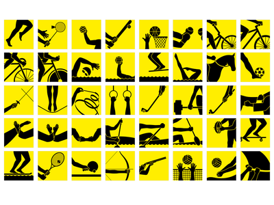 Icon set for Olympic Games