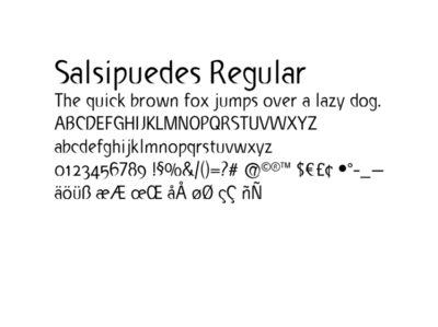 Salsipuedes typeface