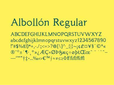 Albollón Typeface graphic art graphic design design typography