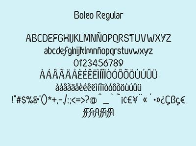 Boleo Typeface