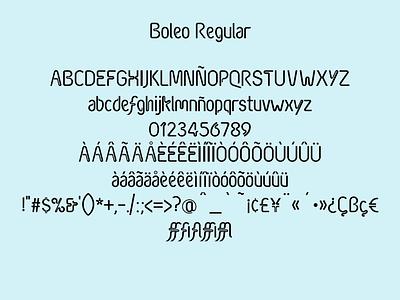 Boleo Typeface graphic art typography graphic design design