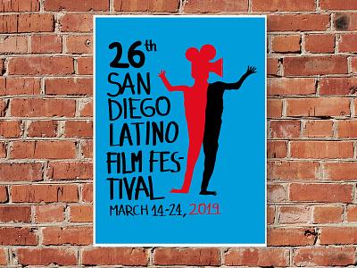 San Diego Latino Film Festival Poster (2019 Proposal) poster design illustration art direction artwork graphic art graphic design design
