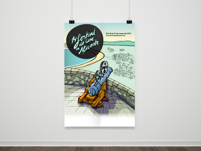 14th Festival de cine de Alicante (Proposal) poster illustration poster design artwork art direction graphic art graphic design design