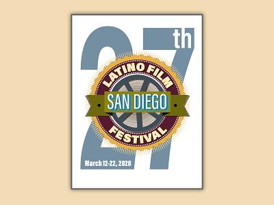 San Diego Latino Film Festival 2020 poster poster design artwork art direction graphic art graphic design design