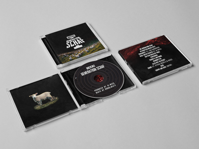 Die Generation Schaf I - CD Packaging westworld maze sheep wolf breichle music packaging cover cd
