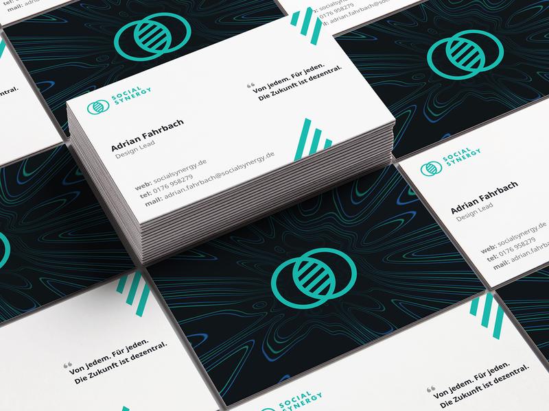 socialSynergy business card mockup photoshop trippy social card business