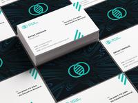 socialSynergy business card mockup