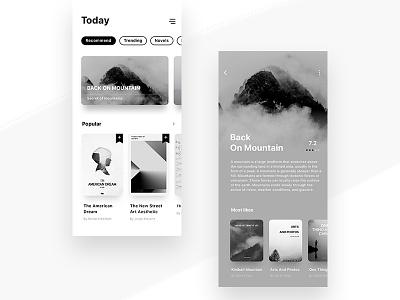 Books Application book app black white